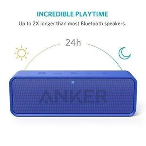ENCEINTE NOMADE Enceinte Portable Bluetooth bleu Stereo avec Batte