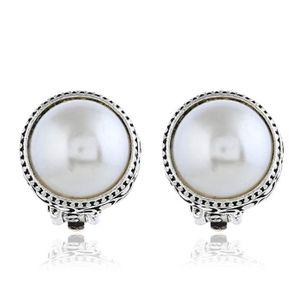 Énorme magnifique 5-6 mm perle baroque boucles d/'oreilles Bricolage 18K Placage Or Dangler Noble