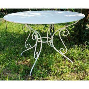 SALON DE JARDIN  Casa Padrino table de jardin en fer forgé - couleu