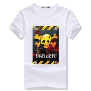 T-SHIRT Vetements Homme T-Shirt Slim Casual Col Arrondi Te