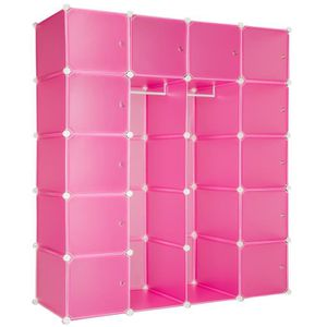 armoire penderie rose achat vente armoire penderie. Black Bedroom Furniture Sets. Home Design Ideas
