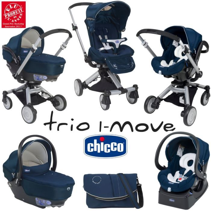 POUSSETTE  CHICCO Trio I-Move Midnight