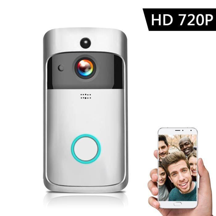 Smart HD 720P Interphone vidéo sans fil WI-FI Portier Vidéo Visuel Cloche WIFI Caméra de Sonnette pour Appartements IR Alarme-43