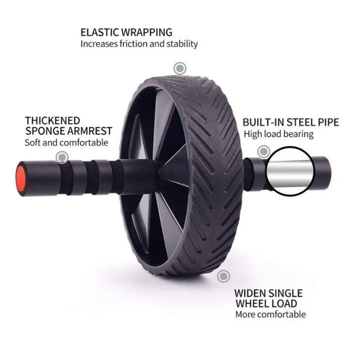 Roue Abdominale Convertible, Ab Roller Wheel, Roulette Abdominaux Exercice pour Abdominaux, Roue de Fitness