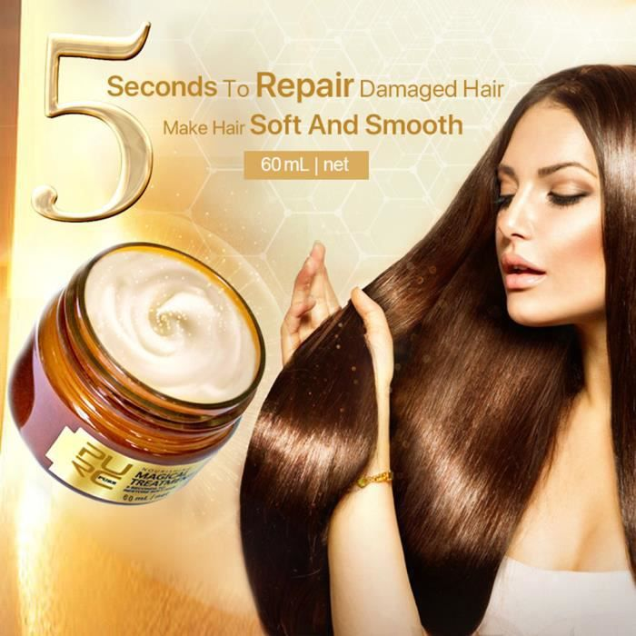 Tonsee®Magic Hair masque de restauration cheveux mous pour tous les types de cheveux de kératine cheveux LZX70921734B Beauté