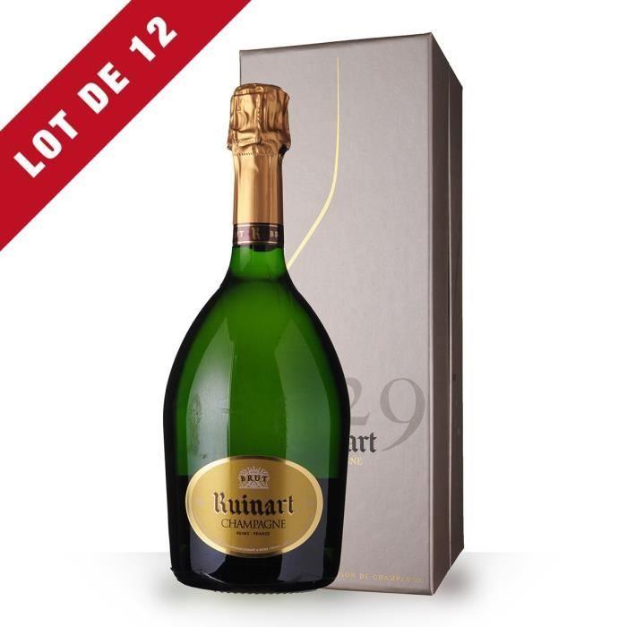 12X R de Ruinart Brut 75cl - Coffret - Champagne