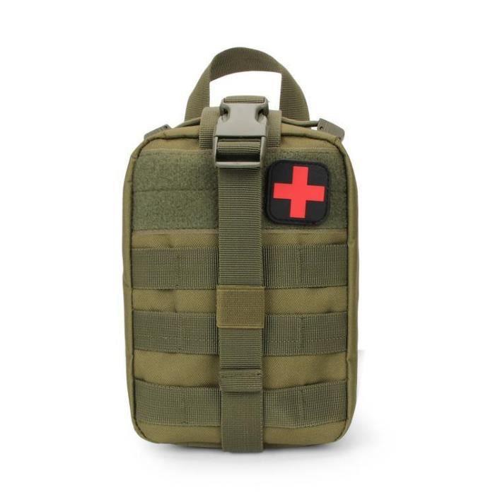 Argent -Trousse de premiers secours tactique, sac militaire, taille Molle, outils de survie en plein air, pochette de ceinture, EDC,