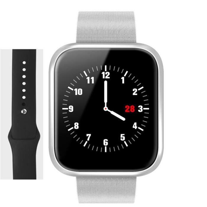 Femmes Ip68 étanche montre Iphone Xiaomi Lg moniteur de fréquence cardiaque Tracker de Fitness - Type P70 -Argent-with retail box