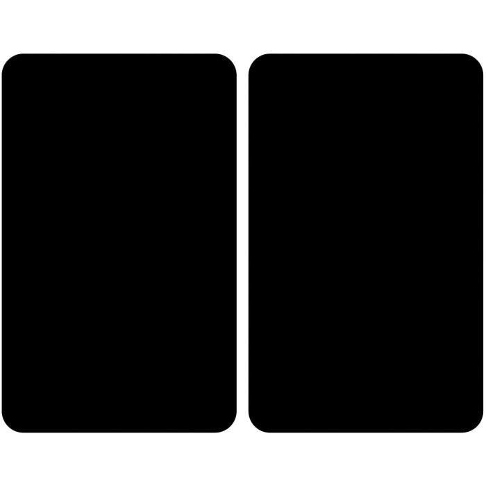 WENKO Plaques de protection en verre universel Noir - Set de 2, couvre-plaque de cuisson pour tous les types de cuisinière, Verre tr