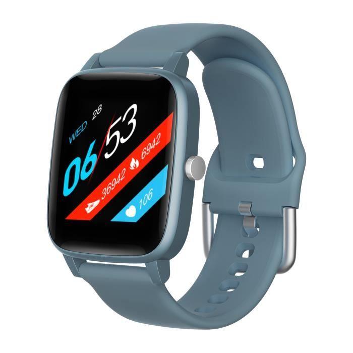 Montre connectée MMTek Thermo Care Advance avec thermomètre et Rythme cardiaque Bracelet montre intelligente fitness - Bleu