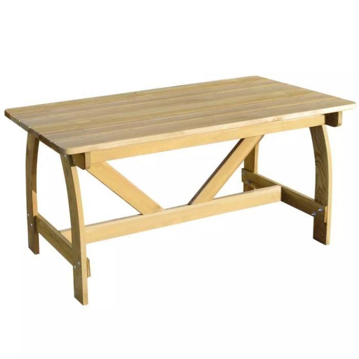 Etoiles boutique®Table de jardin Bois de pin imprégné FSC