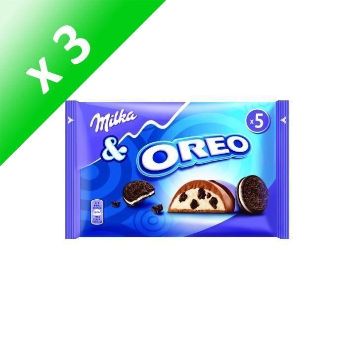 [LOT DE 3] Chocolat au lait OREO 185g Milka