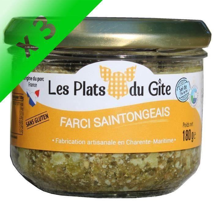 [LOT DE 3] LES PLATS DU GITE Farci Saintongeais - 180 g