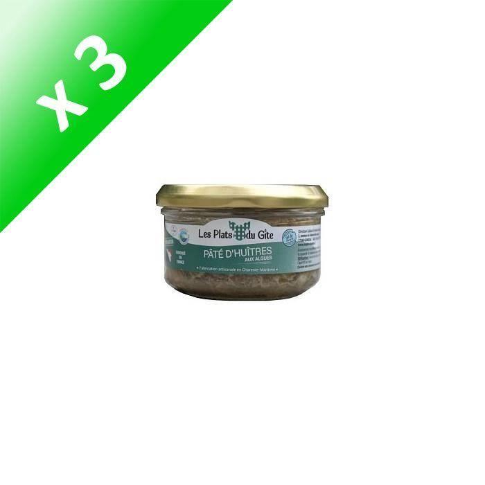 [LOT DE 3] LES PLATS DU GITE Pâté d'Huîtres aux Algues - 120 g