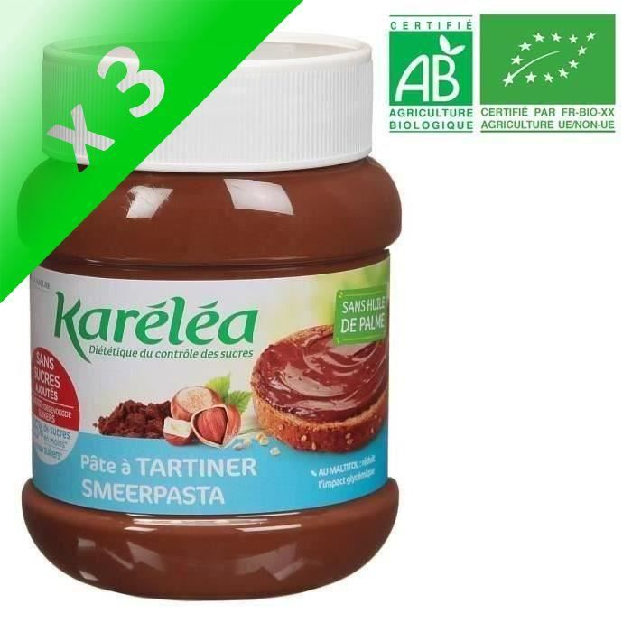 [LOT DE 3] LÉA NATURE Karéléa pâte à tartiner noisette cacao Bio - 400g