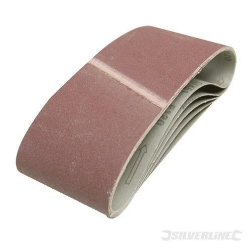 SILVERLINE Lot de 5 bandes abrasives 100 x 610 mm (Lot de 3)