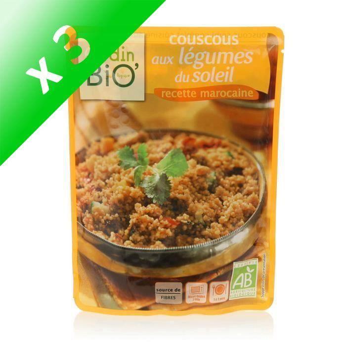 [LOT DE 3] JARDIN BIO Couscous aux légumes du soleil bio - 220g