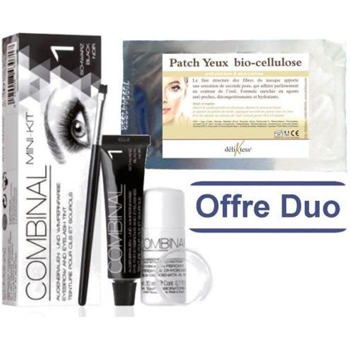 déliktess® - Offre duo Beauté : Mini kit Teinture de cils Noir + Patch Bio Cellulose déliktess®