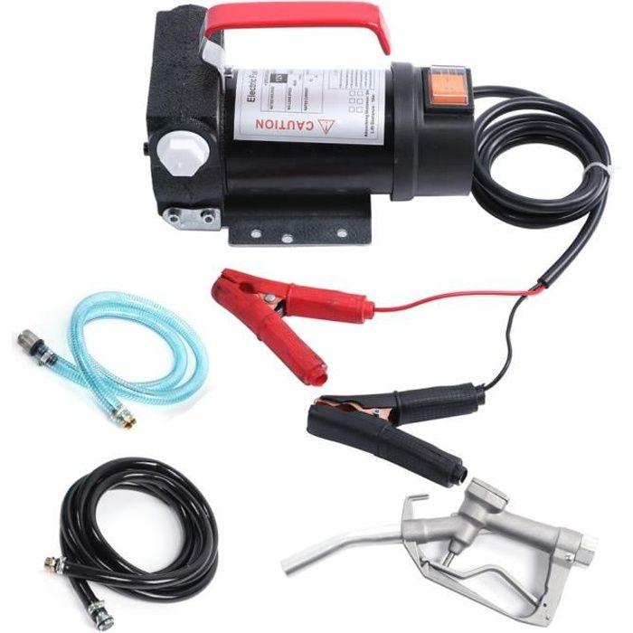 12V Portable Pompe à Fioul et Diesel - 45L/min Pompe de Transfert d'Huile Pompe à Diesel Électrique Pompe de Liquide HB014
