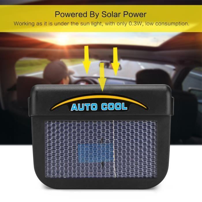 Refroidisseur de vitres pour voitures solaires Ventilateur ventilation automatique de Radiateur à air comprimé Avec bande de caoutch