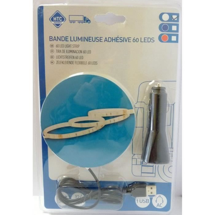 Blande Flexible Adhésive Lumineuse 12/24V 60 LEDS 2M Blanc