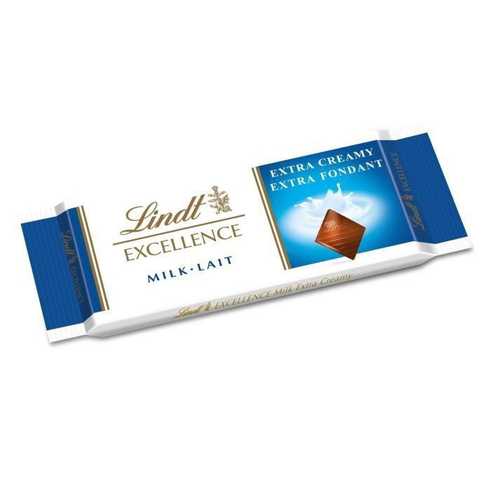 Chocolat lait extra fondant 35 g Lindt EXCELLENCE