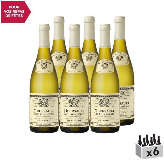 Meursault Les Chevalières Blanc 2017 - Lot de 6x75cl - Louis Jadot - Vin AOC Blanc de Bourgogne - Cépage Chardonnay