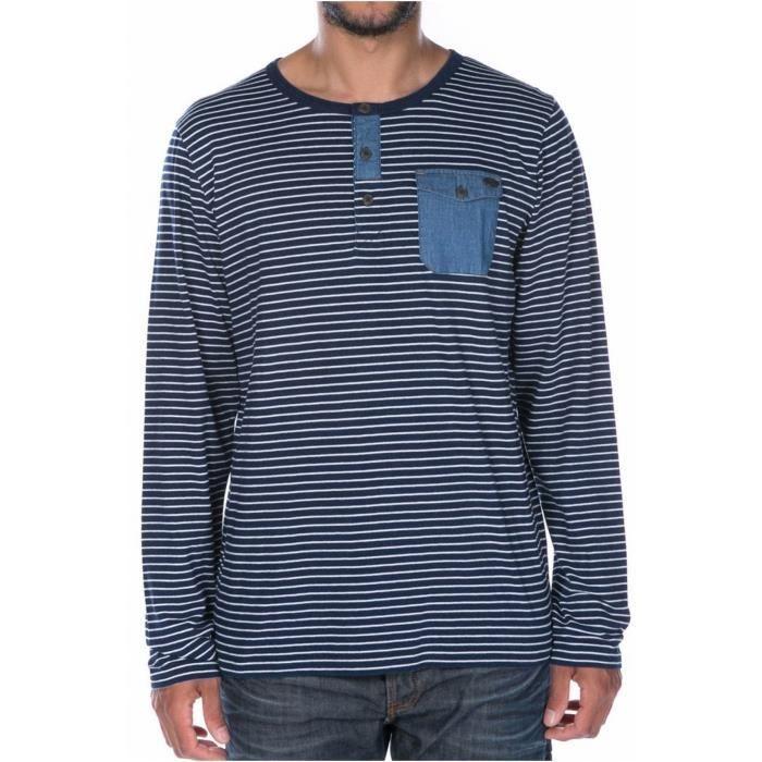 Tee shirt marinière Sillow -DEELUXE Bleu Homme