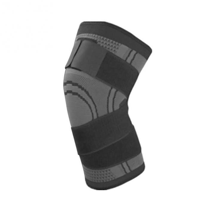 PROTEGE-CHEVILLES - CHEVILLERE,1PC genou soutien professionnel protection sport genoux coussin respirant - Type Gris foncé-L