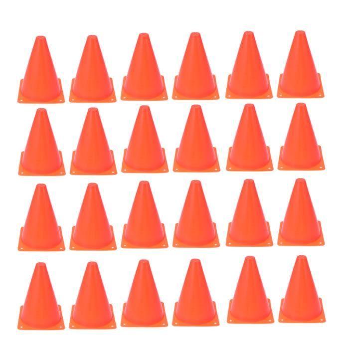 24 Pcs Roadblock Cone Sports Mini Cônes De Trafic Équipement D'entraînement Soccer pour Entraînement Patinage ROLLER IN LINE