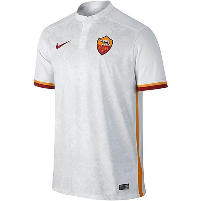 Nike Maillot Officiel As Roma 2015/2016 Hommes, Couleur: Blanc/Orange/Rouge , Taille XL