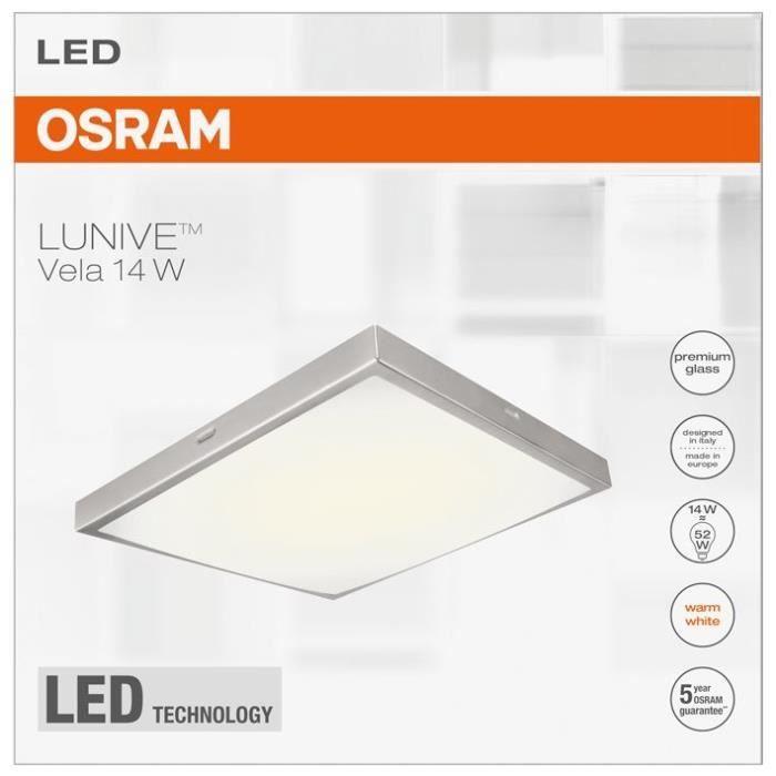 OSRAM - Applique / plafonnier LED Lunive Vela 200x200 mm 14W blanc chaud