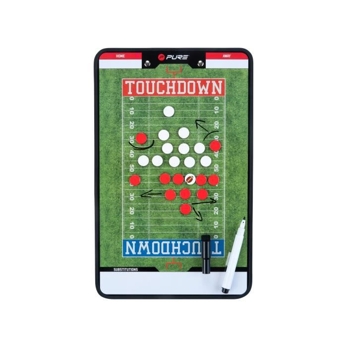 PURE2IMPROVE Coachboard Football américain - Vert/Blanc