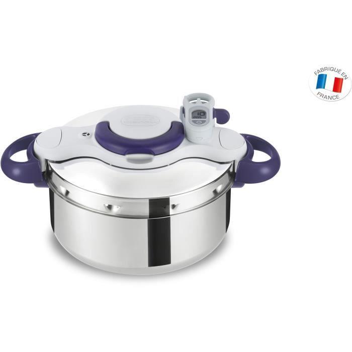 SEB P4620600 Autocuiseur Cocotte-minute Faitout CLIPSO MINUT PERFECT - 4,5 L - Tous feux dont induction - Fabrication française