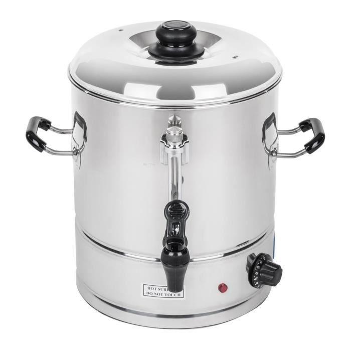 Bouilloire Thermos Distributeur d'eau chaude Royal Catering 30L Environ 150 tasses Max 100dc 42x46x43cm 3000W Inox RCWK-30L