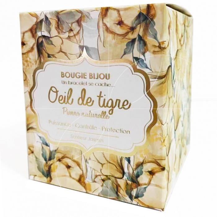 Stella Green - Bougie Bijou Oeil de tigre
