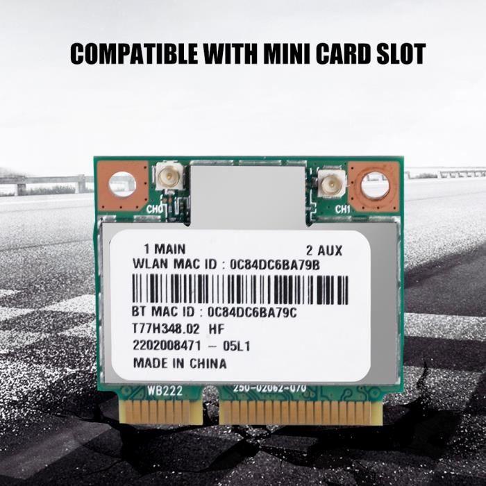 Carte sans fil 2.4G Bluetooth WIFI pour mini logement pour carte PCI-E pour DELL - Asus - Toshiba - BenQ En Stock VGEBY-YES