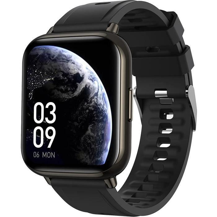 Pouces Montre Connectée Homme Smartwatch Sport Bluetooth 5.0 avec Grand Écran Fréquence Cardiaque Podomètre Oxymètre Sommeil