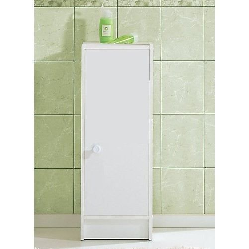maja meuble de salle de bain 1 porte blanc achat vente armoire de toilette meuble salle de. Black Bedroom Furniture Sets. Home Design Ideas