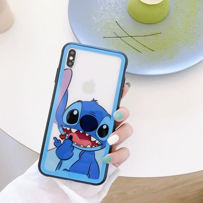 Coque iPhone 7 Plus-8 Plus,Disney Stitch Transpare