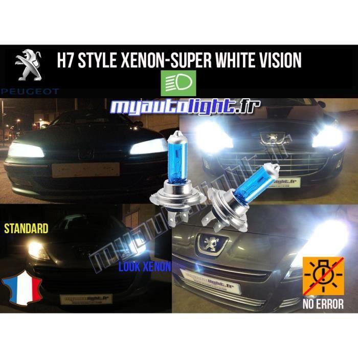 MyAutoLight Pack ampoules H7 blanc xenon feux croisement-code pour 5008