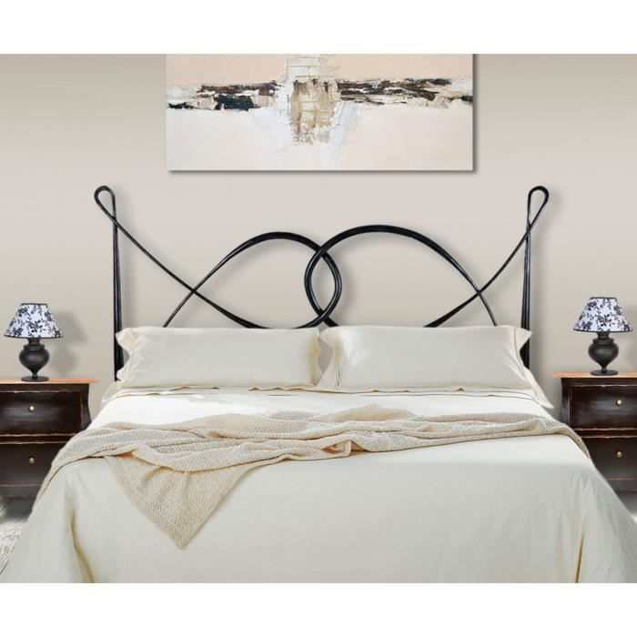t te de lit en fer forg mod le clareta achat vente t te de lit cdiscount. Black Bedroom Furniture Sets. Home Design Ideas