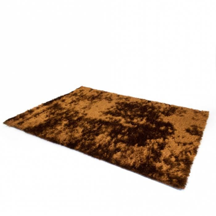 tapis shaggy large brun 160 x 230 cm achat vente tapis cdiscount. Black Bedroom Furniture Sets. Home Design Ideas