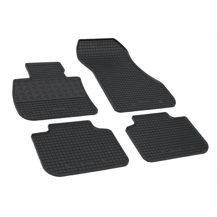 ilTappetoAuto/® rigum901672/Tapis sur Mesure en Caoutchouc v/éritable inodore Noir