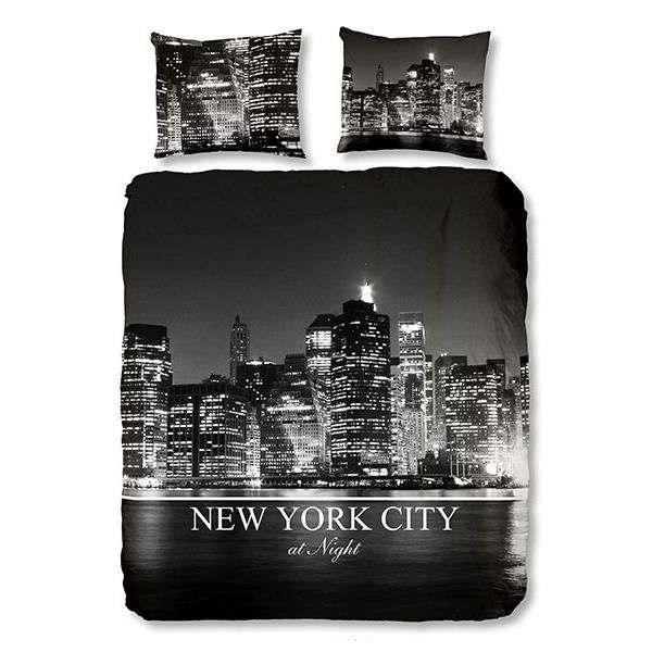 parure de lit new york city 140x200 cm achat vente housse de couette cdiscount. Black Bedroom Furniture Sets. Home Design Ideas