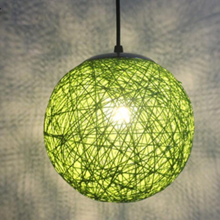 classe /énerg/étique A ++ Lustre En Tissage Vintage Lights Lampes Suspendues En Bambou Naturel Et Rotin , Lampe Suspension E27 R/églable , Fabriqu/é /à La Main Par Un Lustre 100cm