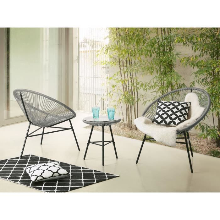 table et chaise de terrasse achat vente table et chaise de terrasse pas cher soldes d s. Black Bedroom Furniture Sets. Home Design Ideas