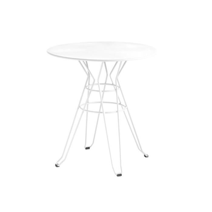 Table De Jardin Design Ronde D60 Alameda Couleur Blanc