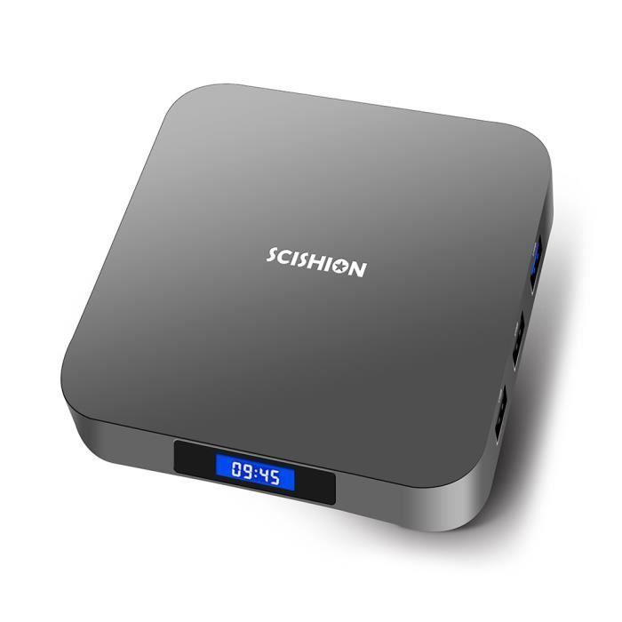BOX MULTIMEDIA SCISHION AI ONE TV BOX 4K 4Go + 32Go Android 8.1 R