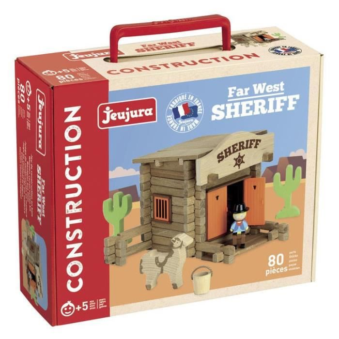 ASSEMBLAGE CONSTRUCTION JEUJURA Far West Shérif - 80 pièces - Jeu de const